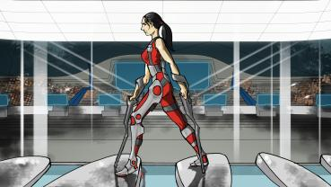 Cybathlon-Disziplin: Powered Exoskeleton Race