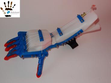 Das Greifen mit der Robohand funktioniert über einfachste Mechanik.